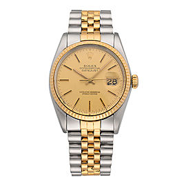 Rolex Datejust 16013 18K Yellow Gold and Stainless Steel Automatic 36mm Unisex Watch