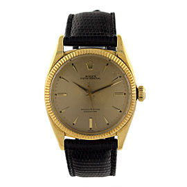 Rolex 18k Yellow Gold Oyster Perpetual Ref 6599