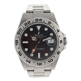 Rolex Explorer II Mens Stainless Steel Black Dial Watch 216570