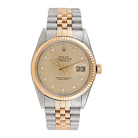 Rolex Datejust 16013 Stainless Steel & 18K Yellow Gold 36mm Mens