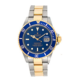 Rolex Submariner 16613LB 18K Yellow Gold and Stainless Steel Automatic 40mm Mens Watch
