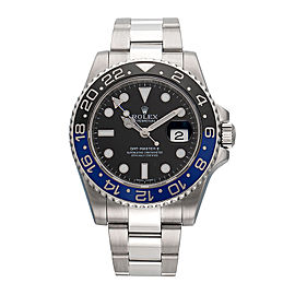 "Rolex GMT-Master II ""Batman"" 116710BLNR Stainless Steel Automatic 40mm Mens Watch"