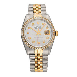 Rolex Datejust 16013 Stainless Steel & 18K Yellow Gold Diamonds 36mm Unisex Watch