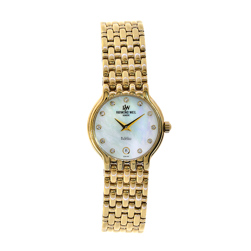 Raymond Weil 4702 18K Gold Fidelio Mother Of Pearl Watch  5097a55e97