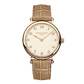 Patek Philippe Ladies Calatrava 18K Rose Gold Watch on Leather Strap 7200R