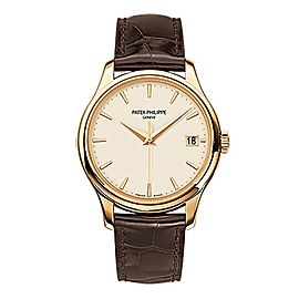 Patek Philippe Calatrava 18K Yellow Gold Watch on Leather Strap 5227J