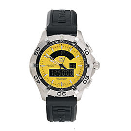Tag Heuer CAF1011.FT8011 Aquaracer Chronotimer Yellow Dial 43mm Mens Watch