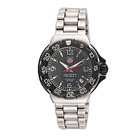 Tag Heuer Formula 1 WAC1210 Stainless Steel Professional Date Black Dial 39mm Unisex Watch