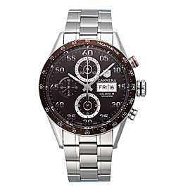 Tag Heuer Carrera CV2A12 Stainless Steel Automatic Chocolate Dial 43mm Mens Watch