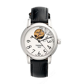 Tissot Lady Heart T050207 Stainless Steel Black Leather 35mm Womens Watch