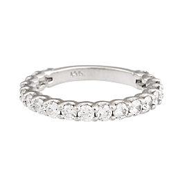 14K White Gold 0.75ct Diamond Eternity Band Ring Size 4.25