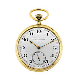 Vacheron Constantin 14k Yellow Gold Open Face Pocket Watch