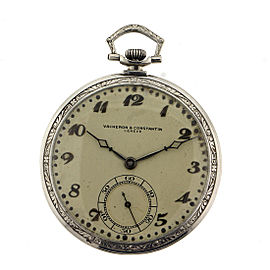 Vacheron Constantin Platinum Open Face Pocket Watch with Monogram