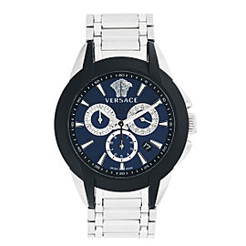 Versace VQN Rubber Bezel Chronograph Mens Watch