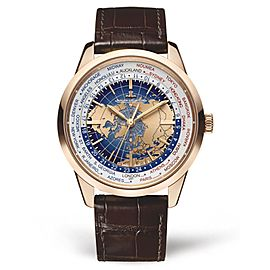 Jaeger Le Coultre Geophysic Universal Time Automatic Blue Lacquer Dial 18kt Rose Gold Men's Watch Q8102520