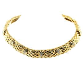 Mauboussin 18K Yellow Gold & 2.25ct. Diamond Choker Necklace