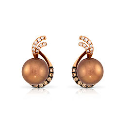 Le Vian Certified Pre-Owned Chocolate Pearls Earrings