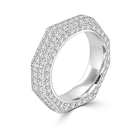 Diamond Pave Set Band in 18k White Gold