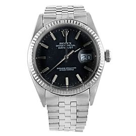 Rolex Oyster Perpetual Datejust 16014 Steel and White Gold Mens Watch