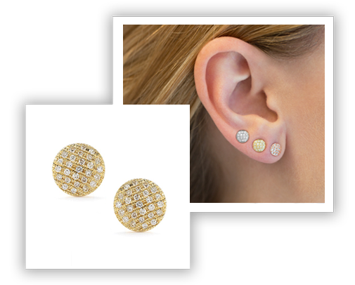 Dana Rebecca Disc Earrings