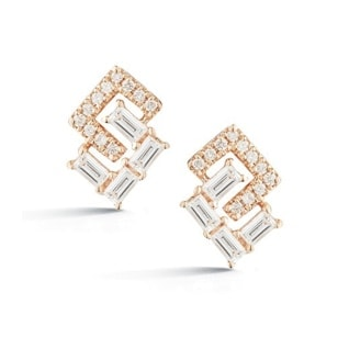 Dana Rebecca Designs Geo Baguette and Pave Earrings