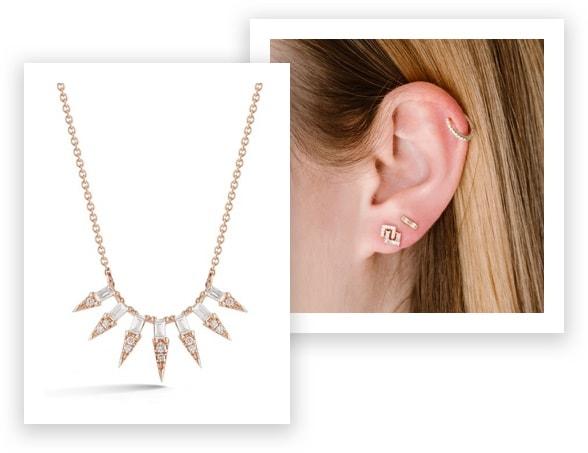 Dana Rebecca Designs Sadie Pearl Starburst Necklace