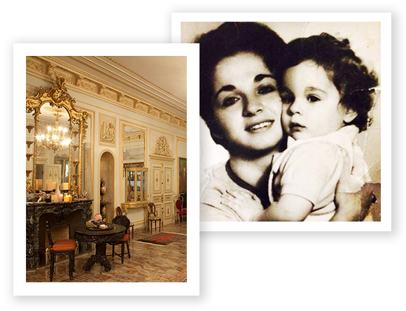 Yossi Harari Company Headquarters and a Young Yossi Harari with his Mother