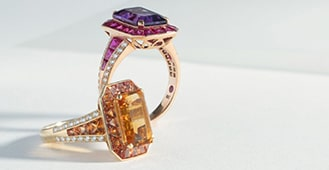 10 Colorful Engagement Rings for the Modern Bride